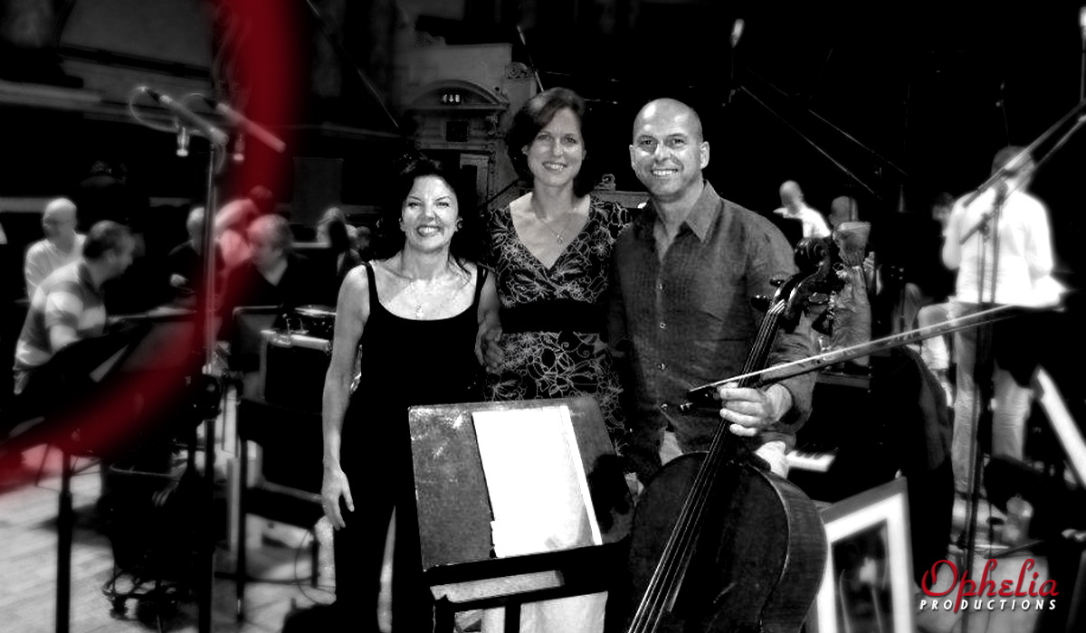 Tasmin Little, Rachel Smith and Tim Hugh, recording Beethoven for Chandos Records