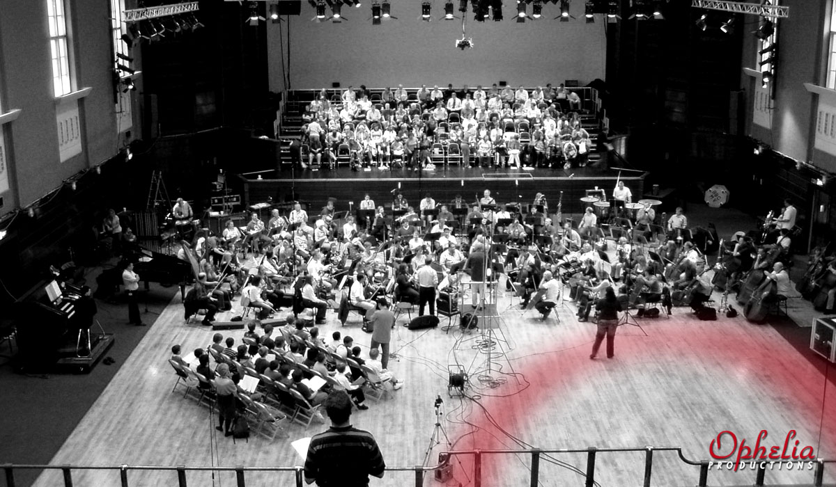 Jiri Belohlavek and the BBC Symphony Orchestra recording Marx Orchestral Songs, produced by Rachel Smith, Ophelia Productions for Chandos Records