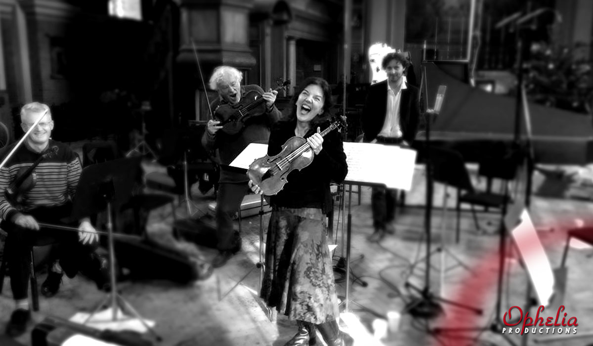 Tasmin Little and the BBC Symphony Orchestra recording Vivaldi's Four Seasons, produced by Rachel Smith, Ophelia productions for Chandos Records