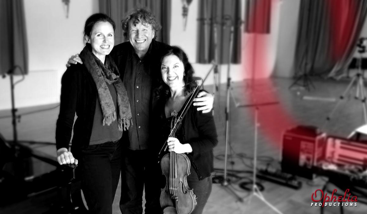 Rachel Smith, Piers Lane, Tasmin Little recording for Chandos Records